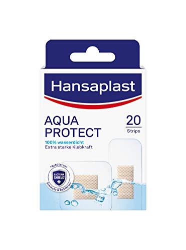 Hansaplast Aqua Protect Pflaster (20 Strips), wasserfeste Wundpflaster mit extra starker Klebkraft, Heftpflaster ideal zum Duschen, Schwimmen & Baden