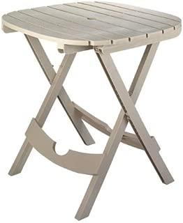 4/Pack Adams Quik-Fold 8550-23-3731 Cafe Folding Resin Table Desert Clay