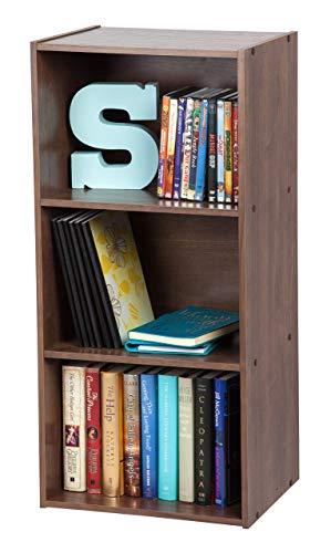 Movian Cube Bookcase CX-3 Iris Ohyama-Muebles de Almacenamiento 3 nichos/Estantería 3 repisas de Madera CX-3-Marrón, 41.5 x 29 x 88 cm, MDF, Castaño