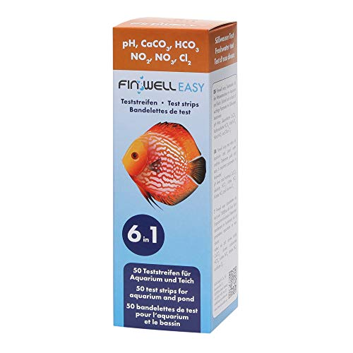 Finwell Easy 6 in 1 Teststreifen für die Analyse im Süßwasser Aquarium und Teich, 50 Stück