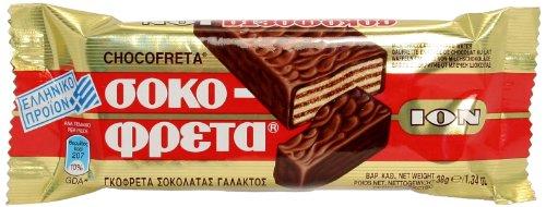 Chocofreta - Milk Chocolate with Hazelnuts Covered Wafers, Case (20x38g) by ION