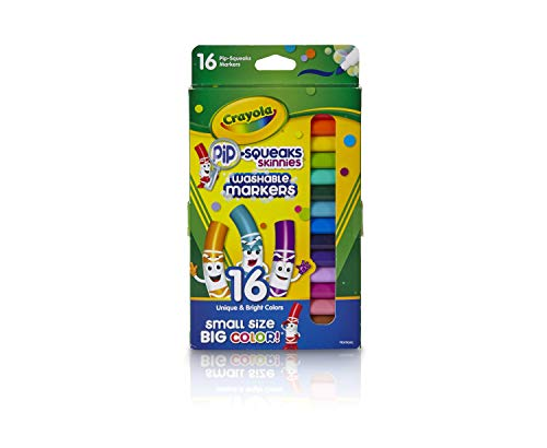 Crayola Washable Pip-Squeaks Skinnies Markers, 16 Count