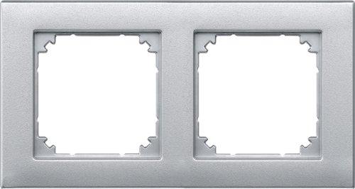 Merten 486260 M-PLAN-Rahmen, 2fach, aluminium