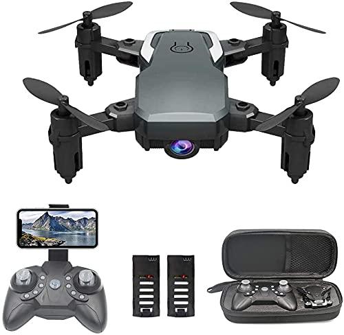 OBEST Drone Mini Fotocamera 1080P,Drone con Telecomando WiFi, Segui la Traiettoria di Volo,modalità Headless, 2 Batterie,Adatto per Bambini e Adulti