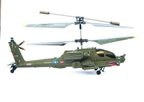 Efaso RC Elicottero S109G 3 Canali Mini Elicottero - AH-64 Apache di Syma