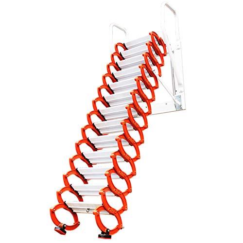 Inicio Loft Escaleras retráctiles Colgante de pared Loft invisible Escalera abatible Bisagra La escalera plegable se puede personalizar 2M-4M (Altura vertical 3.5M)