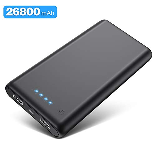 kilponen Powerbank,26800mAh Extrem hohe Kapazität Externer Akku Power Pack,Tragbares Ladegerät mit Dual USB Ports Externer Batterie Pack für Smartphones und Tablets