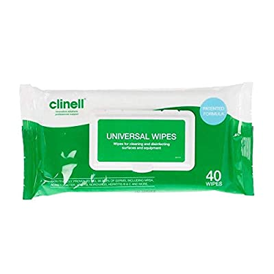 Clinell Universal Sanitising Wipes 40 (2 pack) by