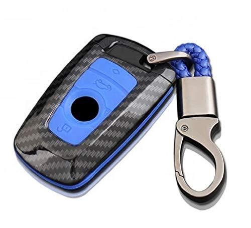 Funda protectora para mando a distancia para BMW 3 4 5 6 7 Series X3 X4 E90 E91 E92 Coche 4 Botones Smart Key Remote Entry (azul)