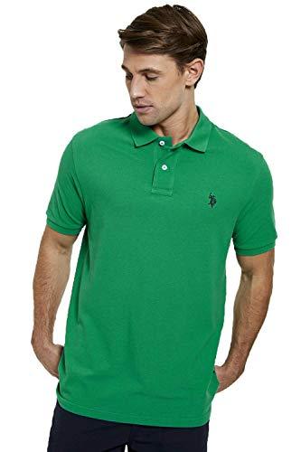 """US Polo Assn. - Polo da uomo """"DHM Large Pique Reg Fit"""" Verde Bosforo M"""
