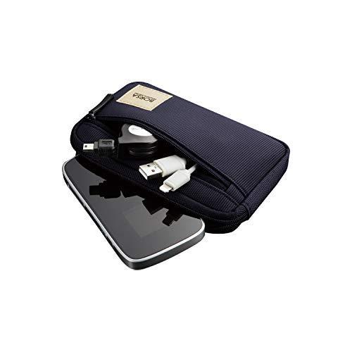 エレコム ポーチ バッグインバッグ アクセサリ/ガジェット収納 スリムタイプ Sサイズ ネイビー BMA-GP01NV