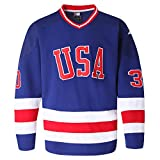 MOLPE USA 21 17 30 Ice Hockey Jersey (30-Blue, L)
