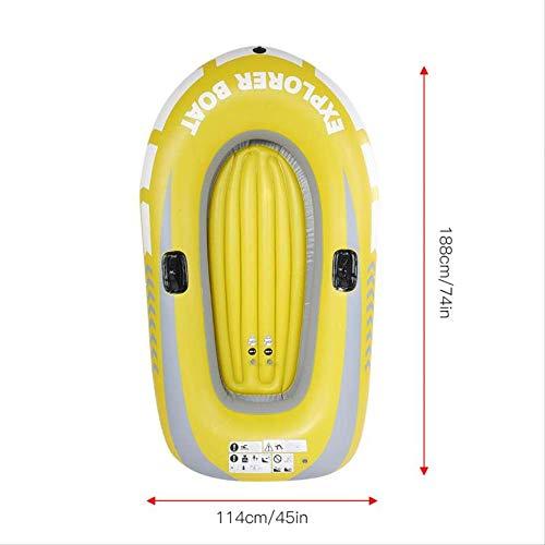 SMEI Kinder Kinder Aufblasbare Kajak Kanu Rudern Luftboot Doppelventil Driften Tauchen Aufblasbarboot Fischerboot 1/2 2 Personen