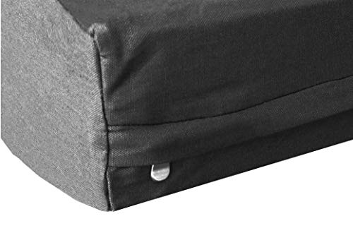 """Dogbed4less Heavy Duty Black Canvas Duvet Pet Dog Bed Cover, Extra Large 40""""X35"""" - Replacement Cover only"""