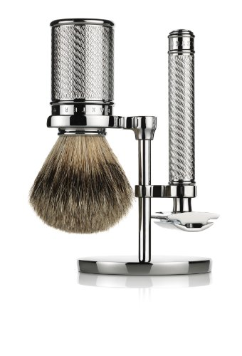 Baxter of California Safety Razor Set for Men | Includes Safety Razor and Shave Brush
