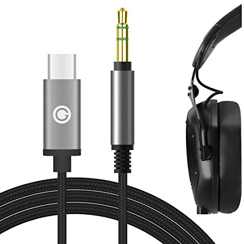 Geekria QuickFit - Cable de audio digital a USB-C compatible con V-MÔDA...