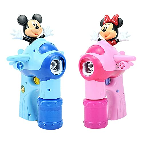 PPuujia Máquina de burbujas Mickey Minnie Linda máquina automática de burbujas sin soplador de burbujas al aire libre Juguete infantil para regalo de niños (Color: B)