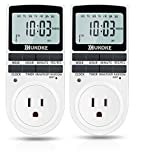 Light Timer, UKOKE Timer Outlet, Appliance Timer with Outlet, 7 Day Weekly Programmable