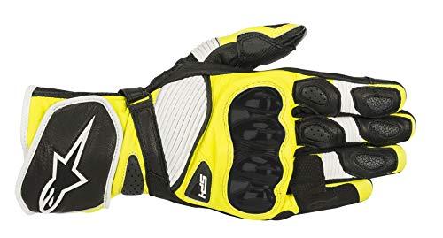 Guantes de Moto Alpinestars SP-1 V2 Gloves Black White Yellow Fluo, Negro/Blanco/Amarillo, M