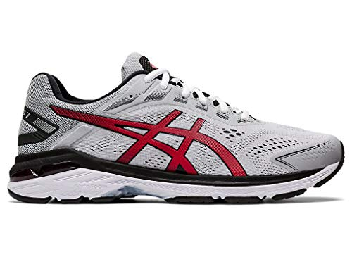 ASICS Men's GT-2000 7 Running Shoes 1011A921, 10.5M, Mid Grey/Speed Red