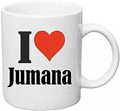 مج أبيض مطبوع عليه I love Jumana