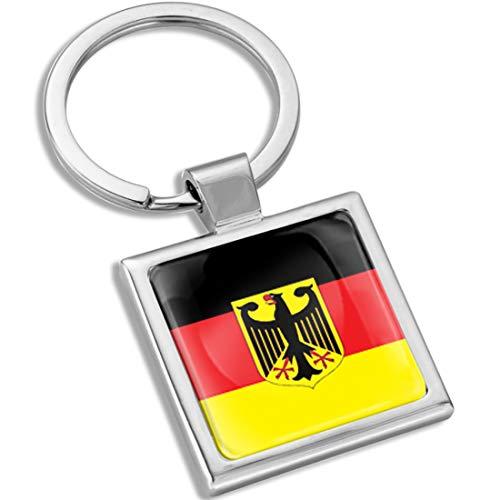 Biomar Labs® Schlüsselanhänger Metall Keyring mit Geschenkbox Autoschlüssel Geschenk Metall-Schlüsselanhänger Schlüsselbund Edelstahl Deutschland Germany Deutsche Flagge Fahne KK 282
