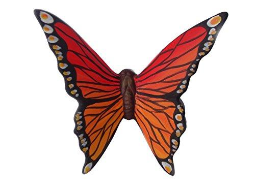 Le Ceramiche Del Re, Farfalla in Ceramica Dipinta a Mano, Farfalla da Parete da Collezione,Made in Italy