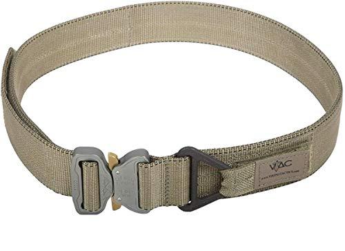 Viking Tactics VTAC Cobra Riggers Belt - Includes 3x5 Reversed American Flag Decal (Coyote Large)