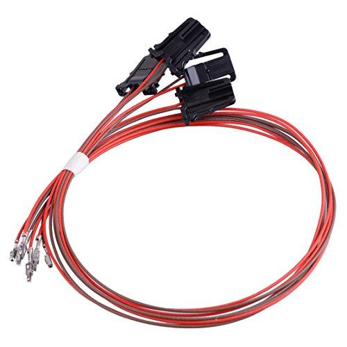 beler 4pcs Porte de Voiture Lumière Faisceau de câbles 3AD947411 pour VW Passat B6 7 CC Tiguan Golf Jetta MK6