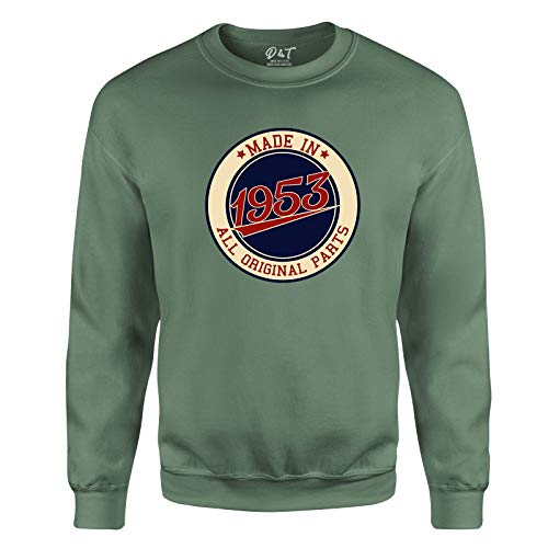 Made in All Original Parts 1953 Aged to Perfection 68th Birthday Gift Mens Sweatshirt Gift for Him