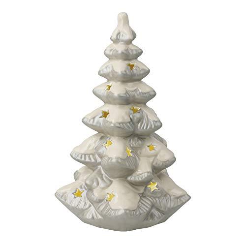 Goebel 2020- Árbol de Navidad con luz (18 cm, porcelana)