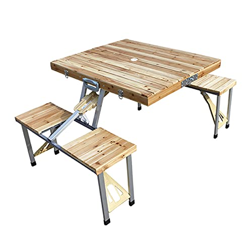 Juego de mesa de picnic y playa plegable, juego de mesa y...