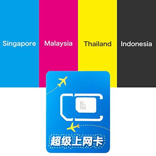 Digi International Prepaid sim Card Asia 8 Days-4GB Data Roaming Singapore,Malaysia,Indonesia,Thailand