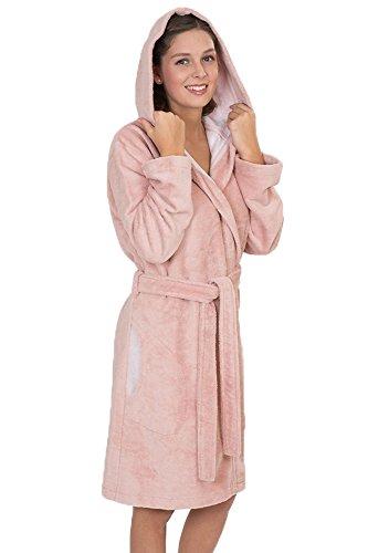 WeWo fashion Damen Kapuzenmantel 6121 Rose, M