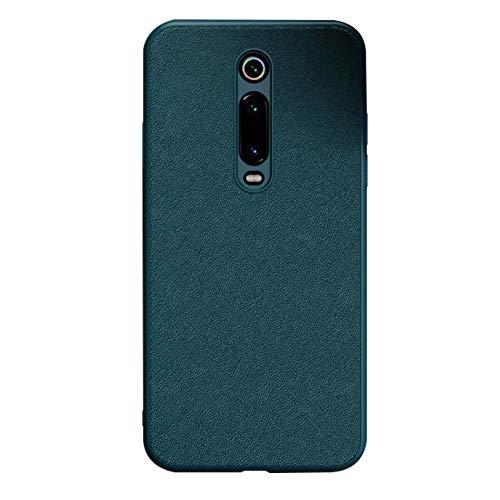 Funda Xiaomi Mi 9T,Carcasa de Suave TPU Antichoque Cuero Protector Caso Funda para Xiaomi Mi 9T / Mi 9T Pro,Verde
