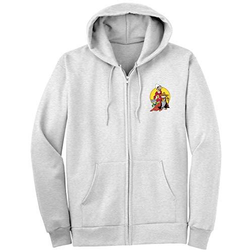 My Custom Style Sweat-shirt unisexe avec fermeture éclair et capuche Grigia_XXL Pinocchio-gatto Volpe