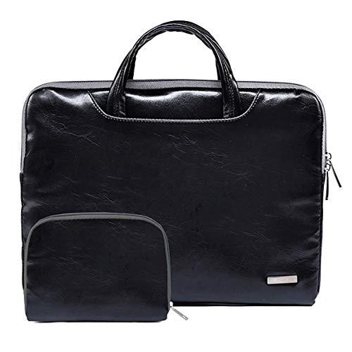 Laptop tragender Kurier Beutel,11,6 Zoll Laptops Tasche Schutzhülle Laptop PU-Leder Sleeve Tragetasche mit Zubehörtasche für MacBook/Ultrabook/Netbook/Tablet/Laptop/Ledertasche