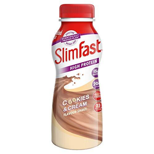 SlimFast eiweissreicher Cookies & Cream Shake, 325ml, 6er Packung