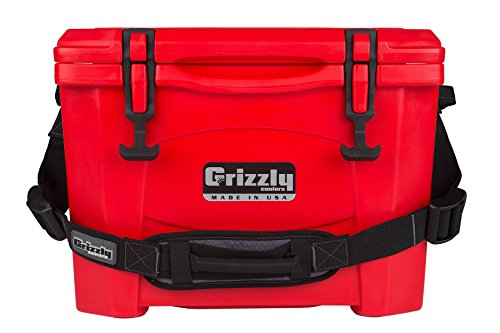 Grizzly 15 Cooler, Red, G15, 15 QT
