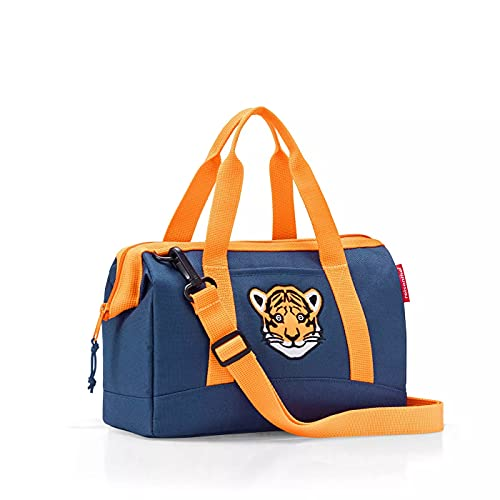 Reisenthel Allrounder XS Kids Tiger Navy Blau Kinder Tasche für Jungen und Mädchen aus wasserabweisendem Polyestergewebe mit 5 Liter Volumen - Maße (B x H x T in cm): 27 x 21 x 12