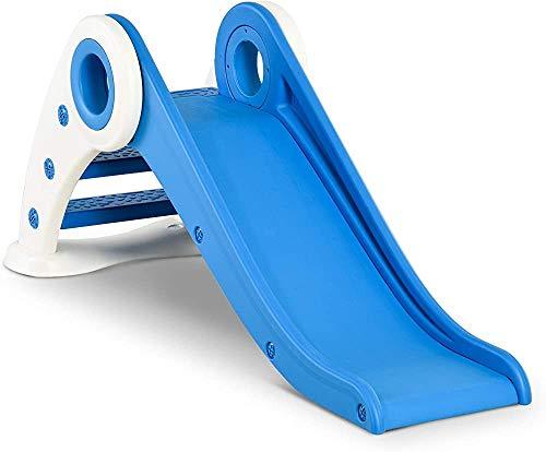 La diapositiva plegable de ancho de la escalera se utiliza en la diapositiva interior de la pendiente larga de jardín para niños de más de 3 años,Blue