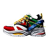 Allenatori Donne Scarpe Casual Clunky Sneakers Pizzo up Chunky Athletic Scarpe Spesse Sole Sport Wedge Heel Outdoor Gym Scarpe