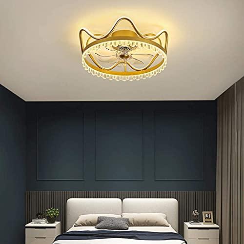 DULG Ventiladores de techo con luces, luz de techo con ventilador silencioso LED moderno de 46 W con lámpara remota Temporizador regulable Ventilador de 3 velocidades Luz de techo Dormitorio Sala de e