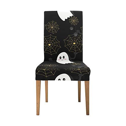 Bezugssitze für Stühle Coole Halloween Creep Fun Ghost Esszimmerstuhl Schonbezug Soft Stretch Bezug Sitzplätze für Stühle Waschbar Abnehmbare Stretch-Esszimmerstuhlbezüge