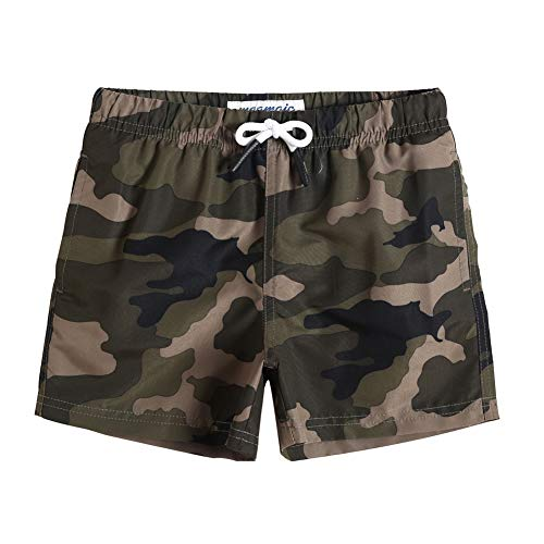 maamgic Boys Swim Trunks Toddler Swim Shorts Little Boys Bathing Suit Swimsuit Toddler Boy Swimwear Camo-Green