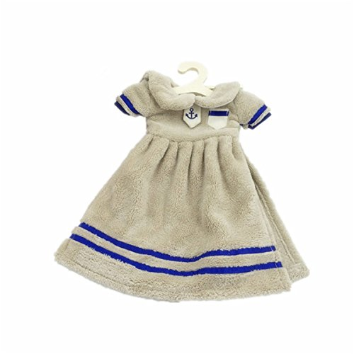 Wuzmei Couleur unie Mini robe douce de salle de bain Cuisine Essuie-mains