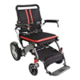 F KD FoldLite Electric Wheelchair Deluxe Stable Power Compact Wheelchair, Foldable & Lightweight, Travel Motorized Wheelchair with Heavy Duty 330lbs Loads, 2010, Deep Gray