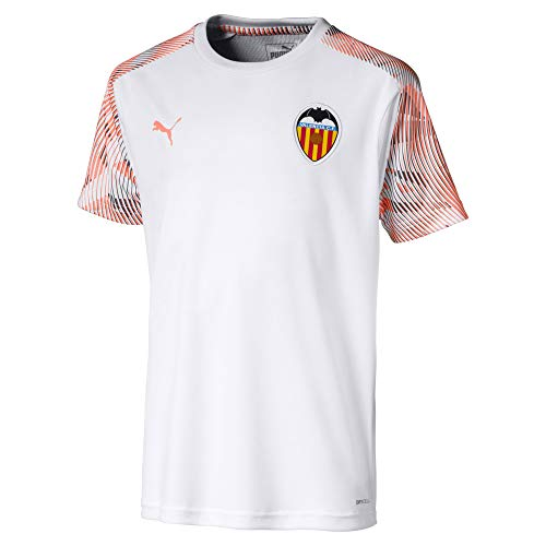 Puma Valencia CF Training Jersey Camiseta, Niños, Blanco White/Fizzy Orange, 152