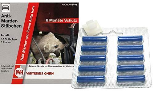 IWH Anti-Marderstäbchen, Inhalt: 10 Stück, Sie erhalten 1 Packung, Packungsinhalt: 10 Stück
