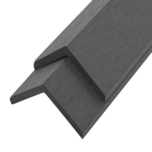 vidaXL 5x Abschlussleiste Terrasse WPC 170 cm Grau Abdeckleiste L Leiste